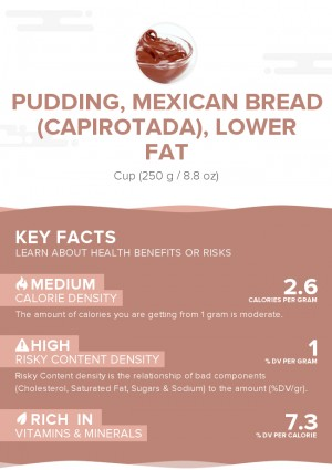 Pudding, Mexican bread (Capirotada), lower fat