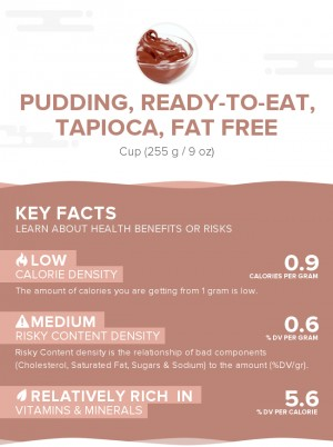 Pudding, ready-to-eat, tapioca, fat free
