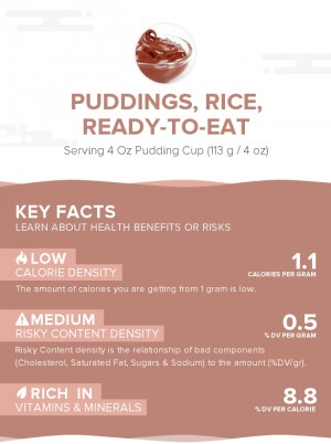 Puddings, rice, ready-to-eat