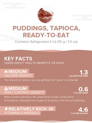 Puddings, tapioca, ready-to-eat