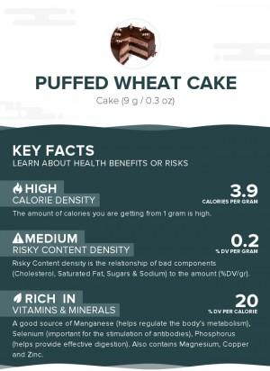 Puffed wheat cake