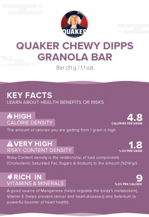 Quaker Chewy Dipps Granola Bar