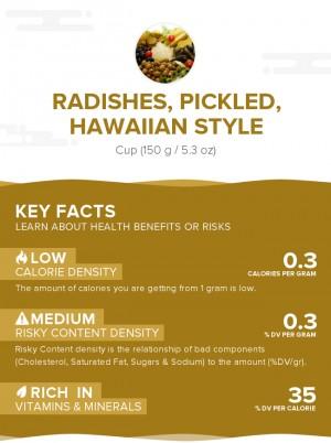 Radishes, pickled, Hawaiian style