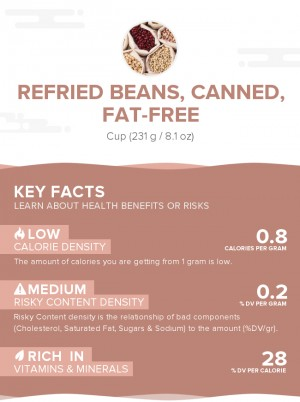 Refried beans, canned, fat-free
