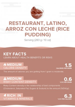 Restaurant, Latino, arroz con leche (rice pudding)