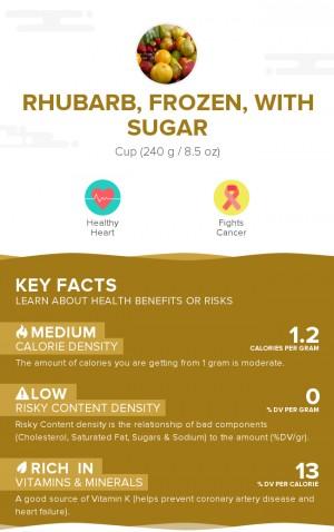 Rhubarb, frozen, with sugar