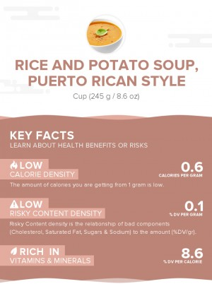 Rice and potato soup, Puerto Rican style