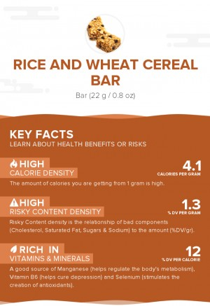 Rice and Wheat cereal bar