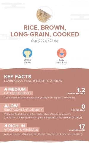 Rice, brown, long-grain, cooked