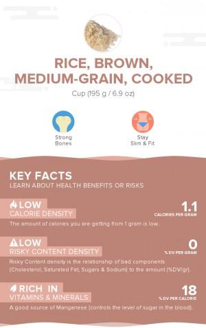 Rice, brown, medium-grain, cooked