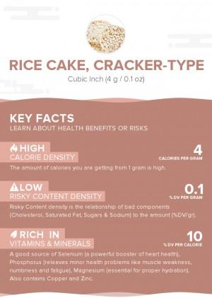 Rice cake, cracker-type