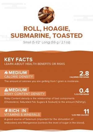 Roll, hoagie, submarine, toasted