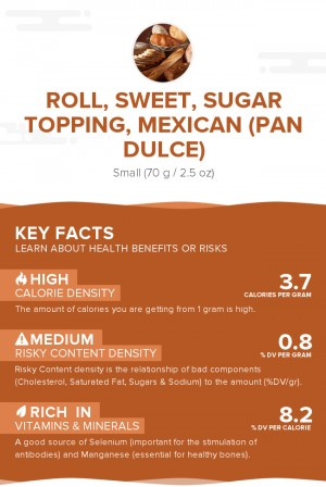 Roll, sweet, sugar topping, Mexican (Pan Dulce)