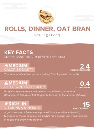 Rolls, dinner, oat bran