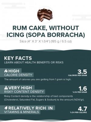 Rum cake, without icing (Sopa Borracha)