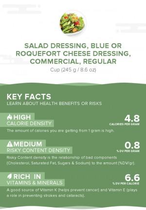 Salad dressing, blue or roquefort cheese dressing, commercial, regular