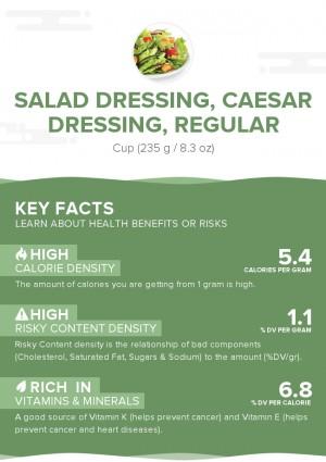 Salad dressing, caesar dressing, regular