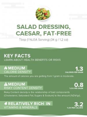Salad dressing, caesar, fat-free