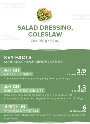 Salad dressing, coleslaw