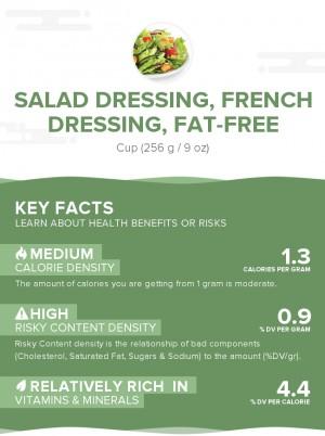 Salad dressing, french dressing, fat-free