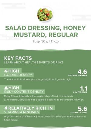 Salad dressing, honey mustard, regular