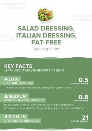 Salad dressing, italian dressing, fat-free