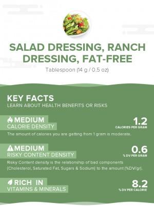 Salad dressing, ranch dressing, fat-free