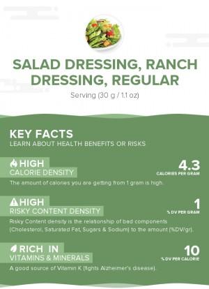 Salad dressing, ranch dressing, regular