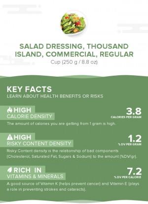Salad dressing, thousand island, commercial, regular