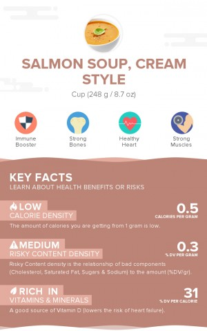 Salmon soup, cream style