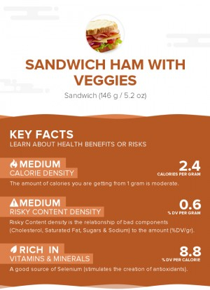 Sandwich Ham with Veggies