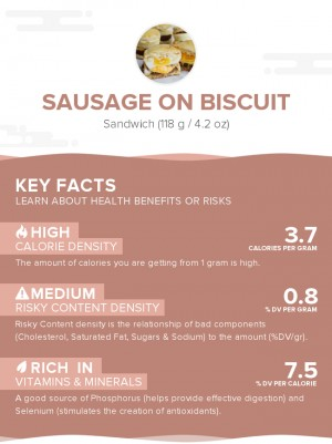 Sausage on biscuit