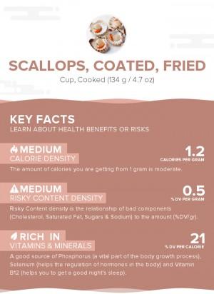 Scallops, coated, fried