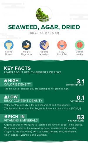 Seaweed, agar, dried