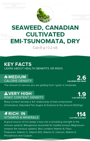 Seaweed, Canadian Cultivated EMI-TSUNOMATA, dry