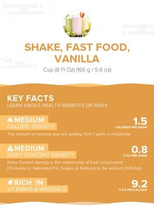 Shake, fast food, vanilla