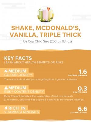 Shake, McDONALD\'S, Vanilla, Triple Thick
