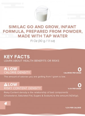 Similac Go and Grow, infant formula, prepared from powder, made with tap water