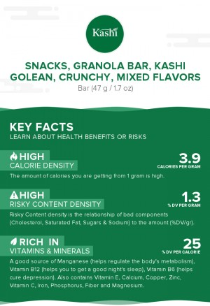 Snacks, granola bar, KASHI GOLEAN, crunchy, mixed flavors