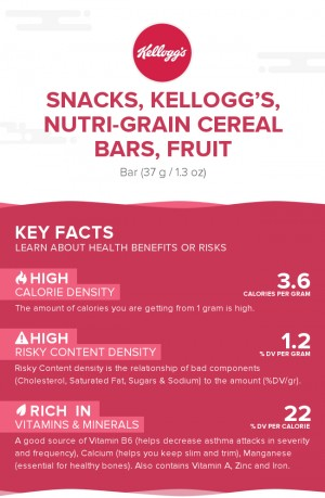 Snacks, KELLOGG'S, NUTRI-GRAIN Cereal Bars, fruit