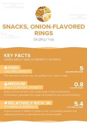 Snacks, onion-flavored rings