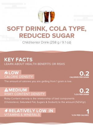 Soft drink, cola type, reduced sugar
