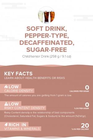 Soft drink, pepper-type, decaffeinated, sugar-free