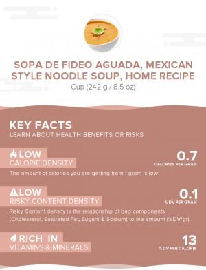 Sopa de Fideo Aguada, Mexican style noodle soup, home recipe