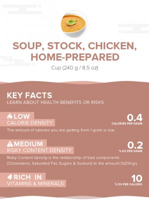 Soup, stock, chicken, home-prepared