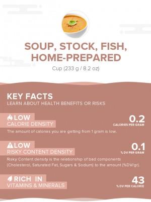 Soup, stock, fish, home-prepared