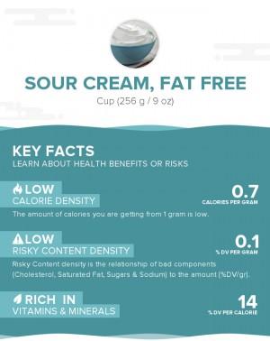 Sour cream, fat free