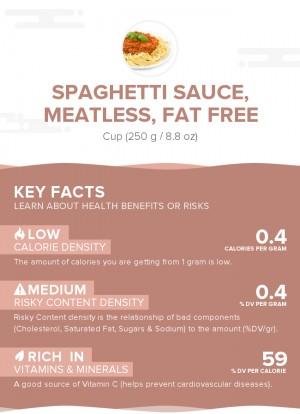 Spaghetti sauce, meatless, fat free