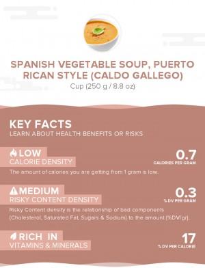 Spanish vegetable soup, Puerto Rican style (Caldo gallego)