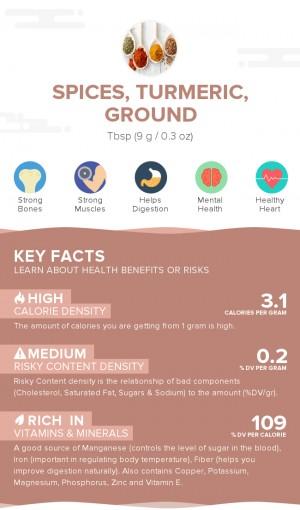 Spices, turmeric, ground